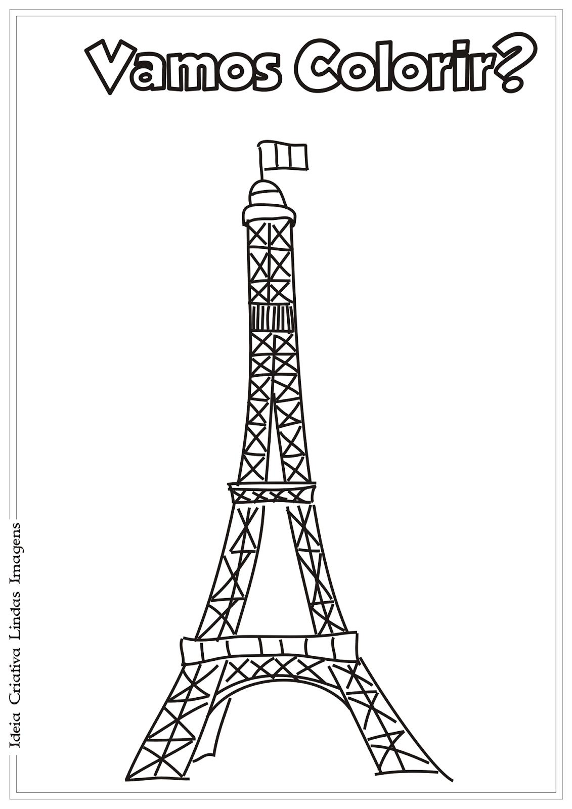 Desenhos Para Colorir Da Torre Eiffel – Pampekids Net
