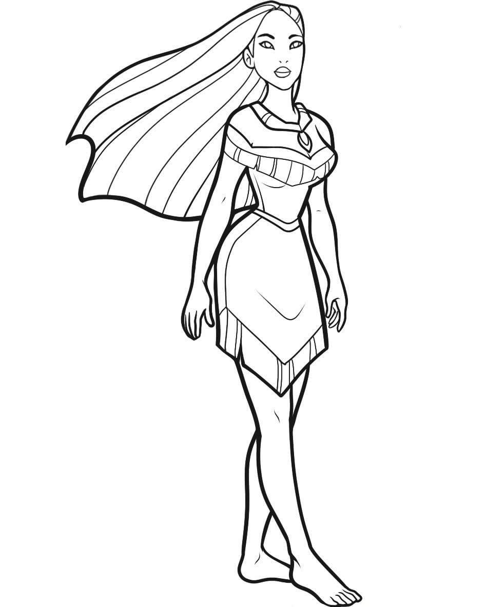 Imagem Da Pocahontas Desenho