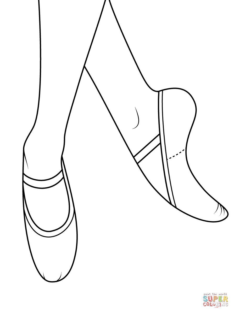 Lifetime Pointe Shoes Coloring Pages Ballet Page Free Printable  15344