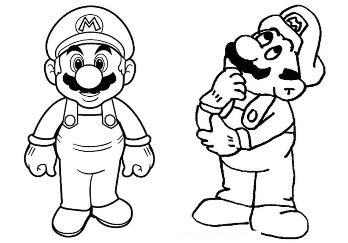 Livrinho Para Colorir Mario Bros Grátis Para Imprimir
