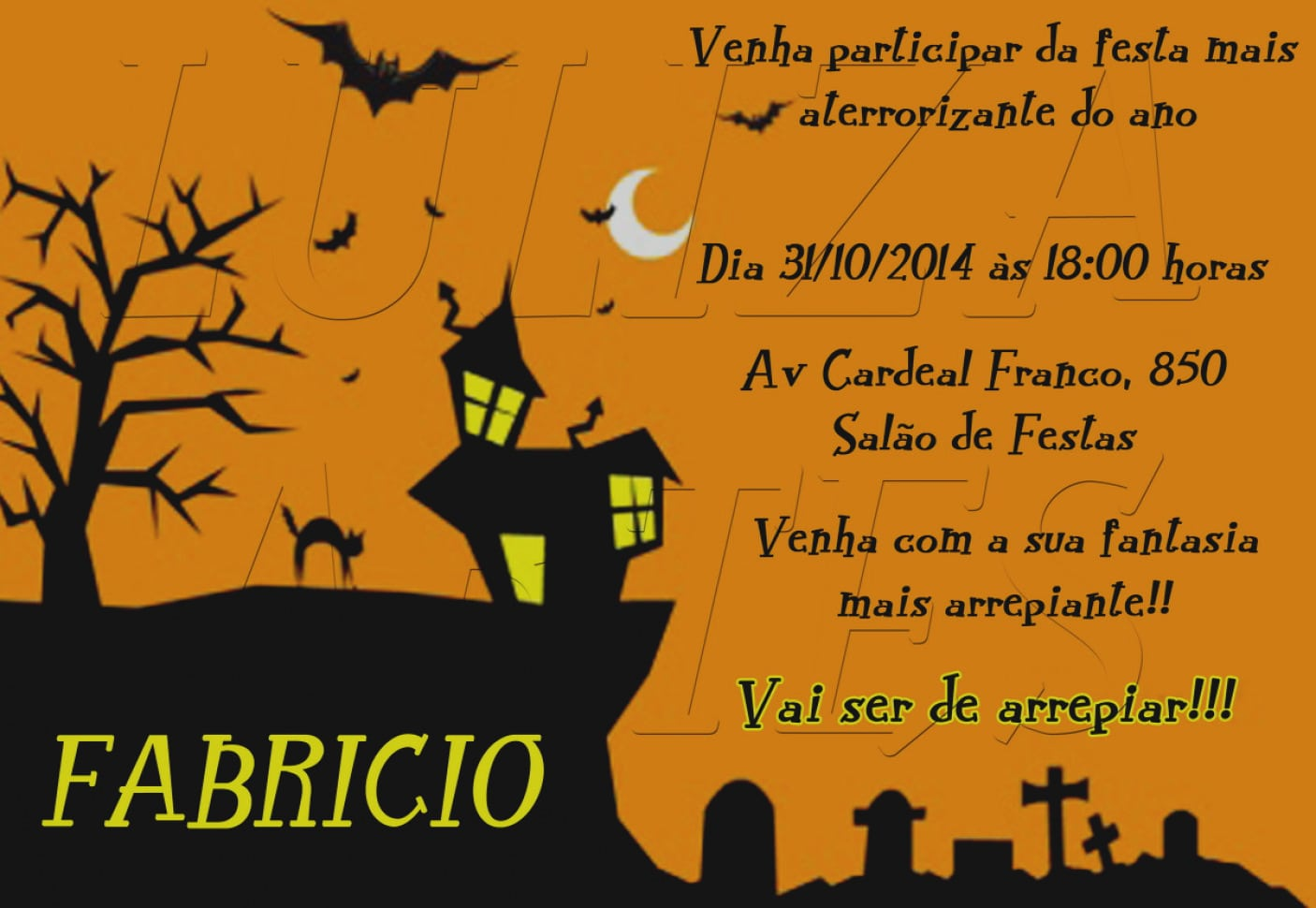 Imagens Convite De Aniversario Halloween Para Imprimir Arte