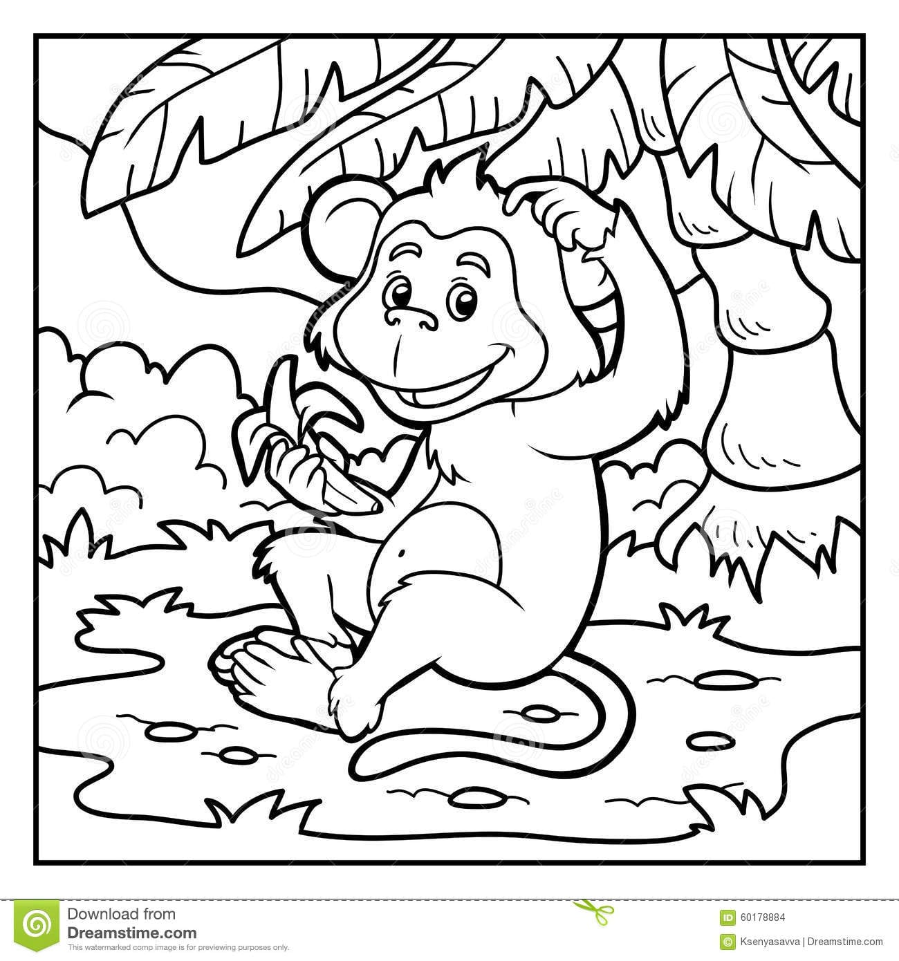 Macaco Para Colorir E Imprimir