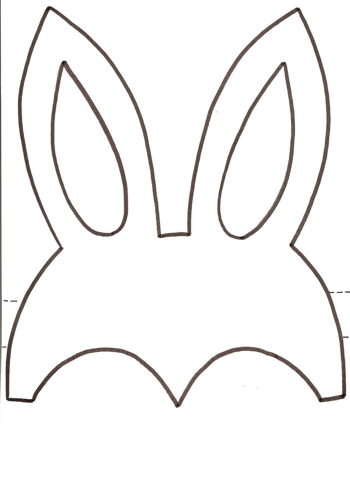Desenho De Máscara De Orelhas De Coelho Da Páscoa Para Colorir
