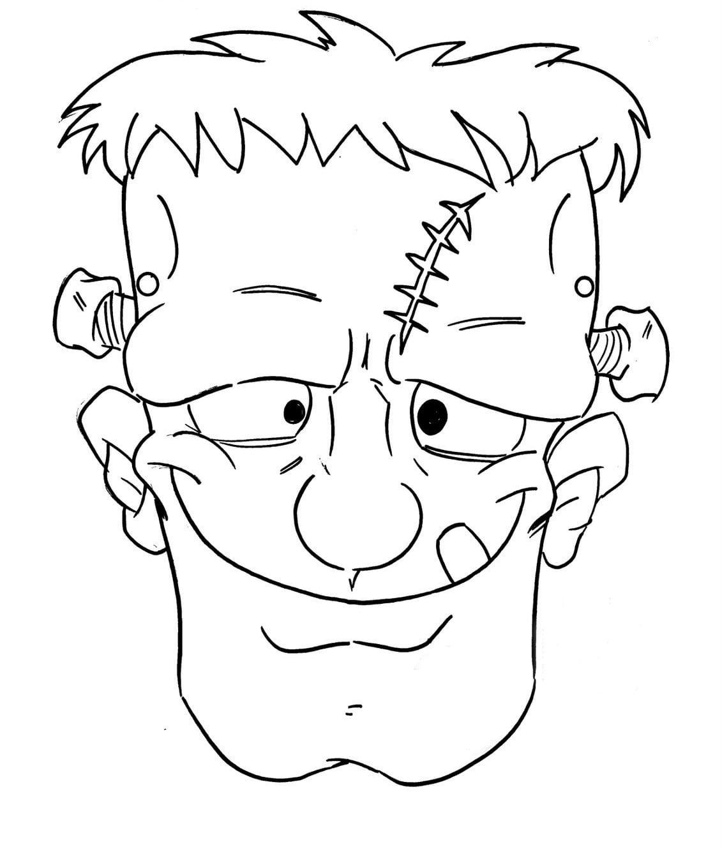 Desenho De Máscara Do Frankenstein Para Colorir