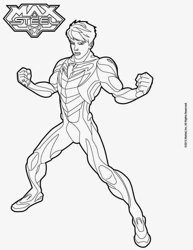 Desenhos Para Colorir Do Max Steel