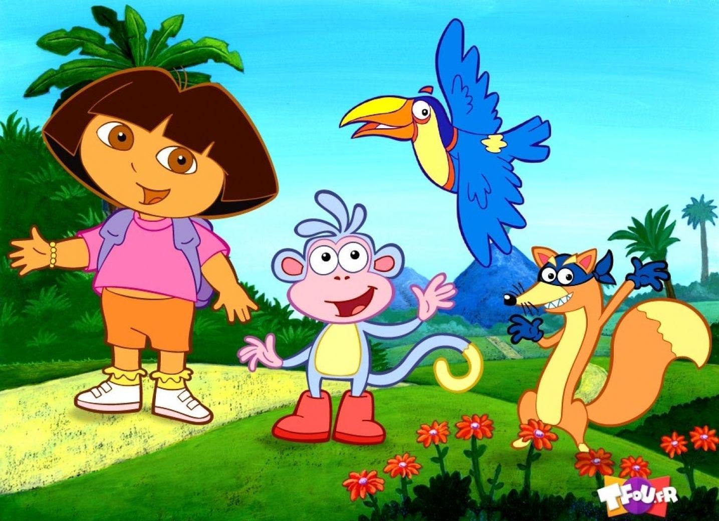 Dora Aventureira Na Floresta Com Seus Amigos Desenho Completo 2016
