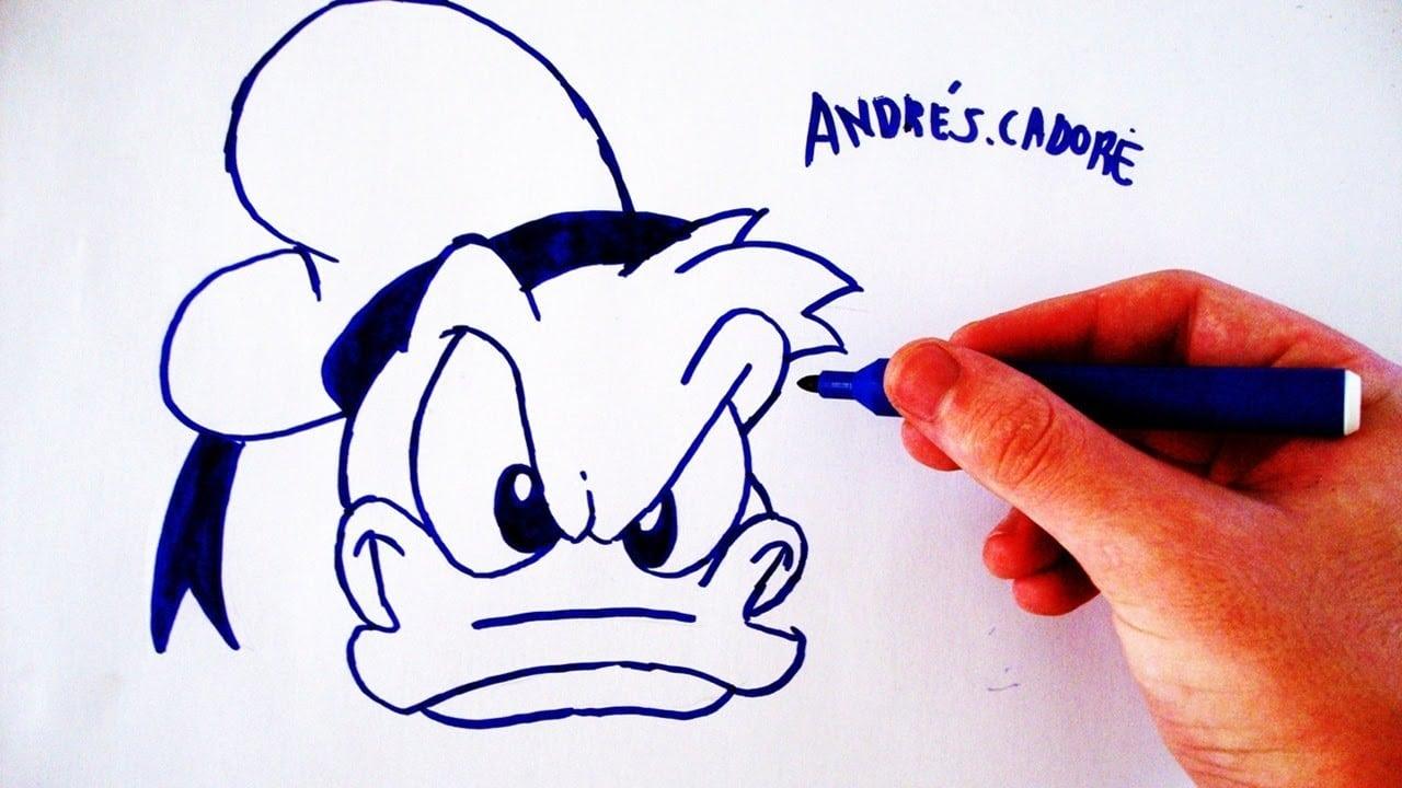 Como Desenhar O Pato Donald (face)