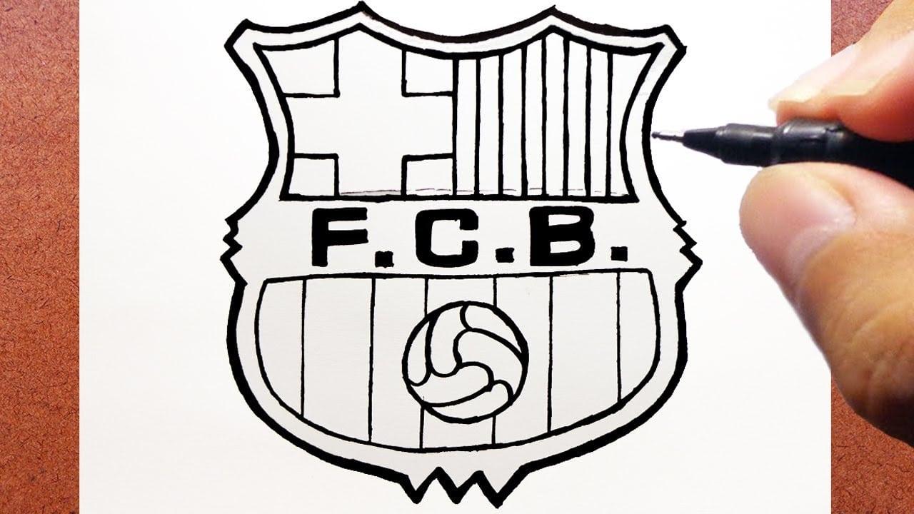 Como Desenhar O Escudo Do Fc Barcelona Time De Futebol