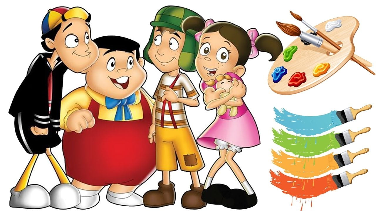 Turma Do Chaves Colorindo