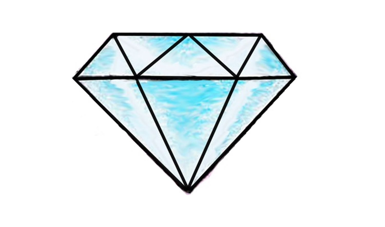 Como Dibujar Un Diamante Paso A Paso (fácil)