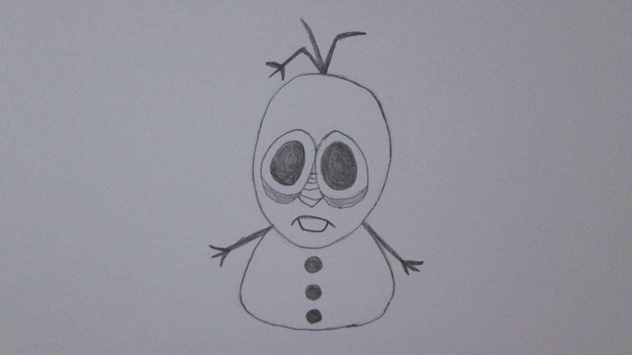 Como Desenhar O Olaf De Frozen
