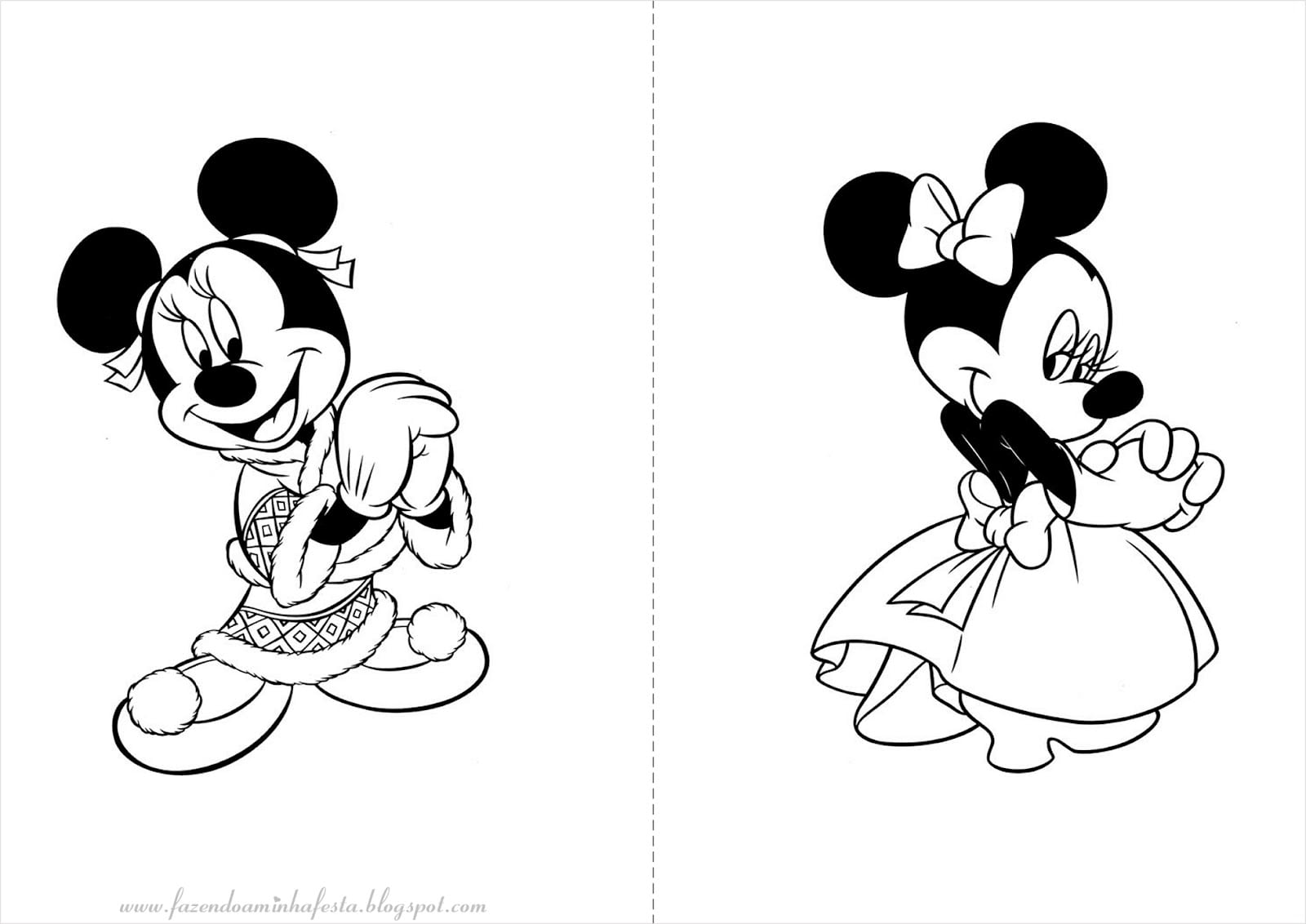 Desenhos Minnie Para Imprimir
