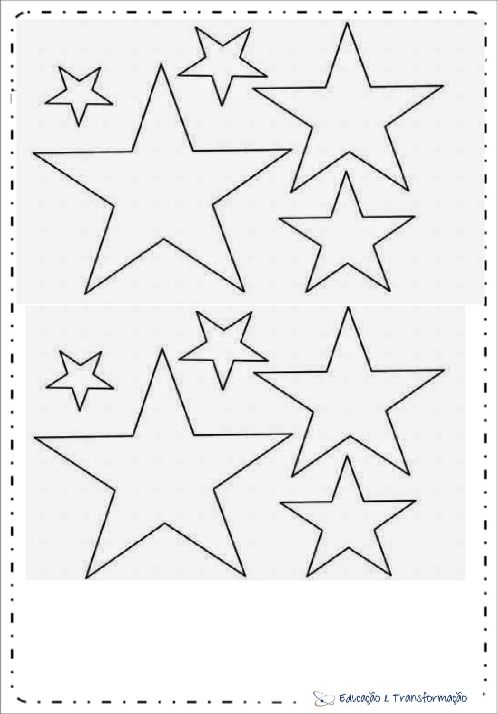 Moldes De Estrelas Para Imprimir – Educação E Transformação