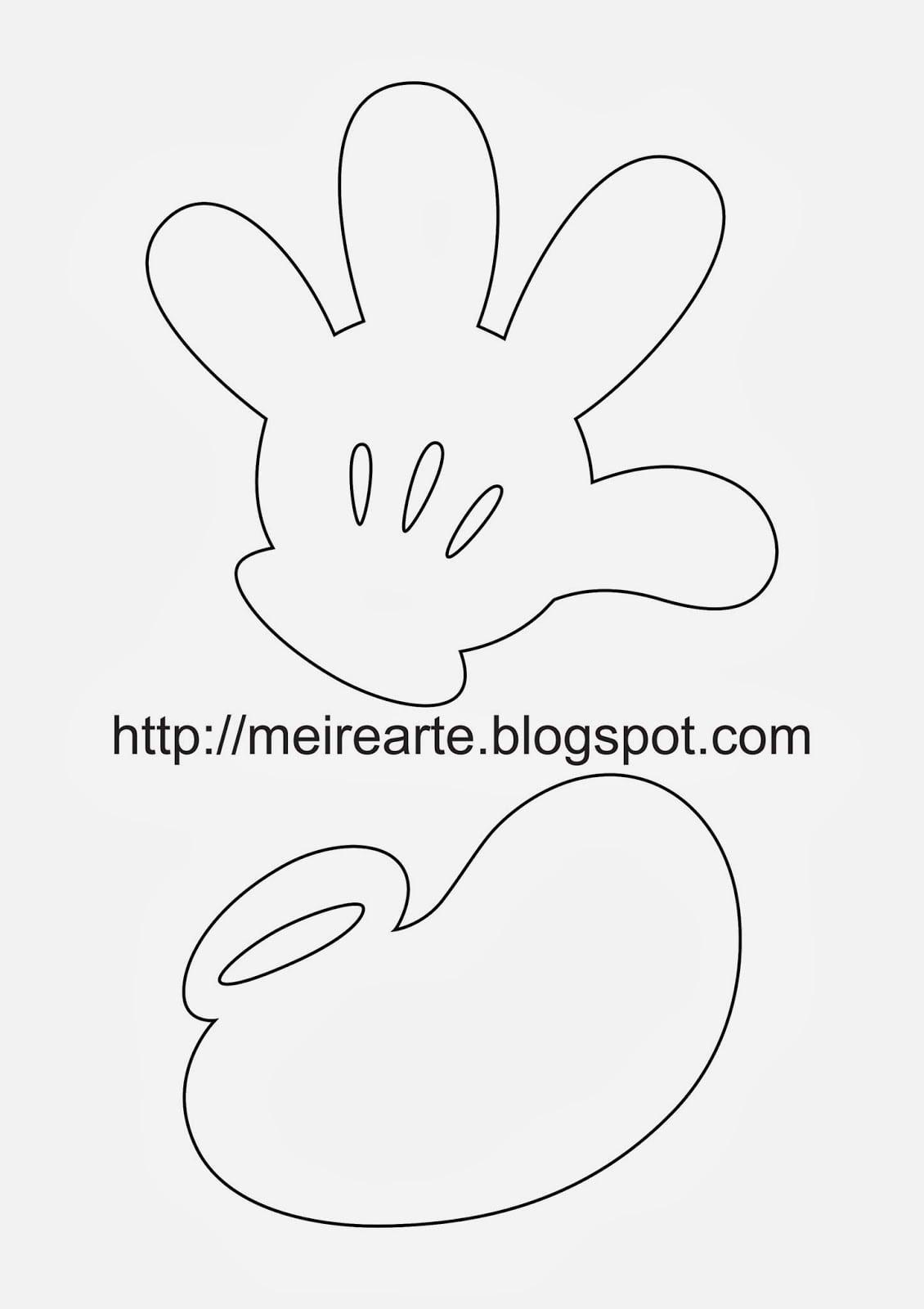 Moldes Mickey 2