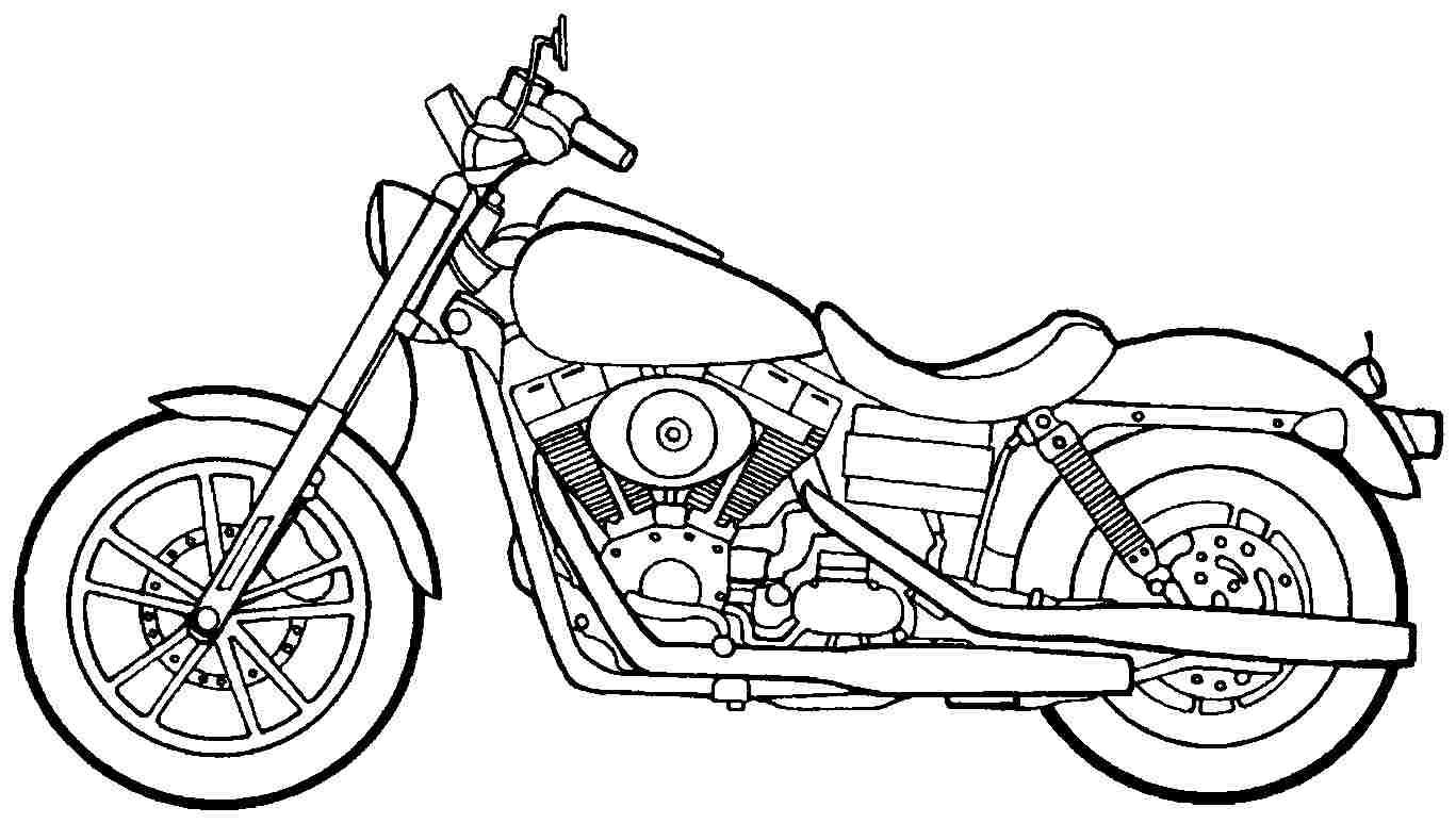 Los Dibujos Para Colorear   Dibujos De Motocicletas Para Colorear