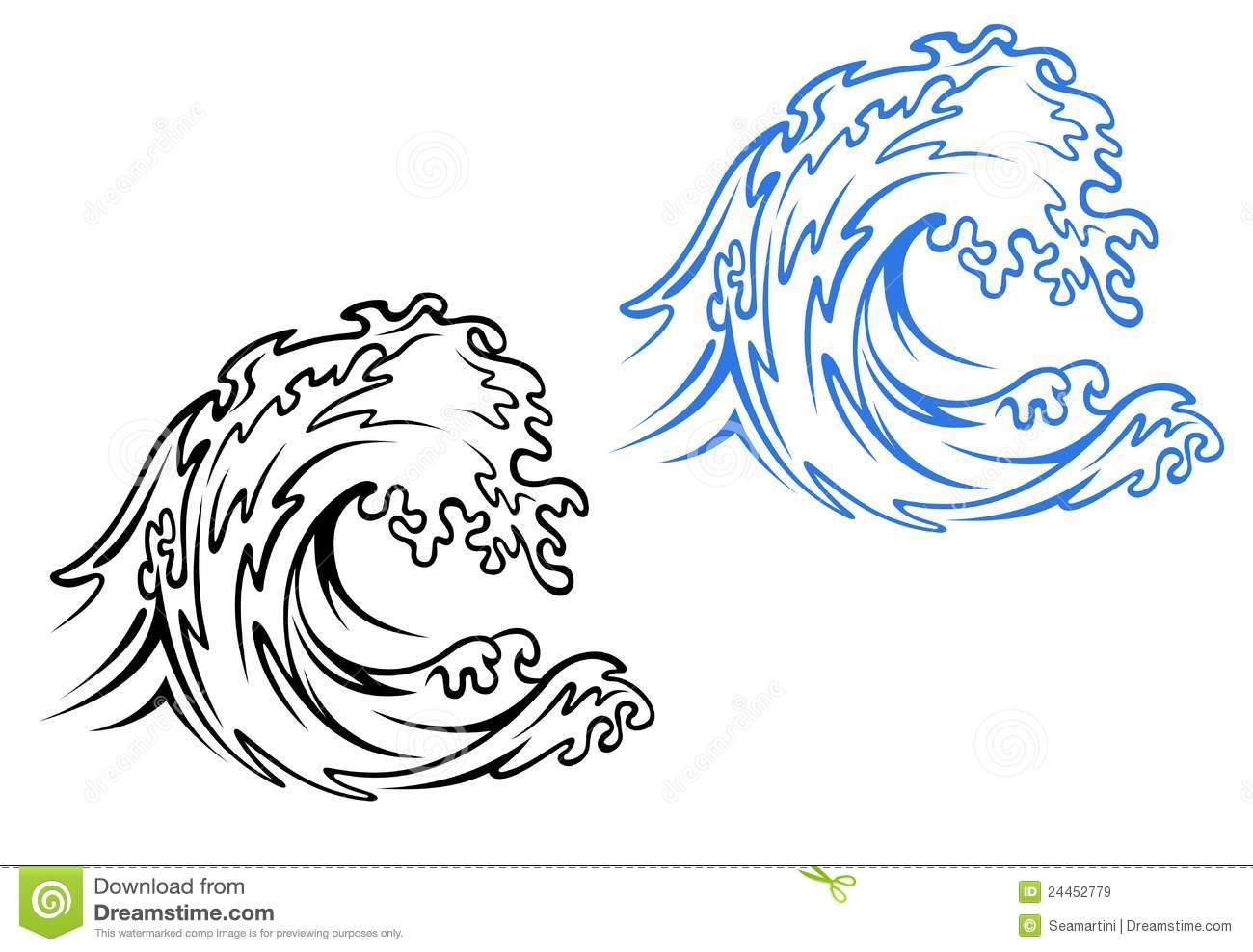 Onda Do Mar Ilustração Do Vetor  Ilustração De Praia