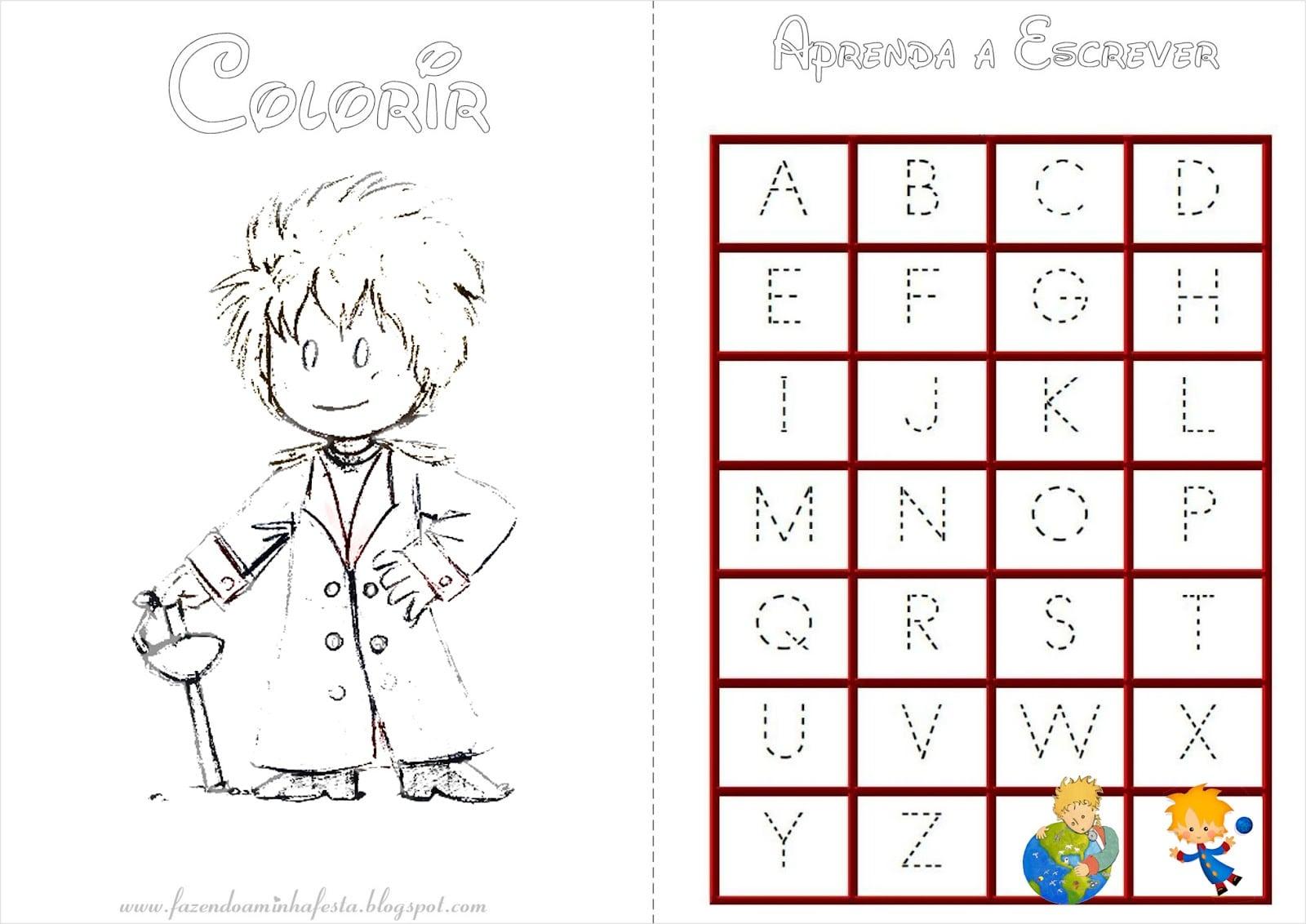 Desenhos Para Colorir Principe: Desenho Do Pequeno Principe Para Colorir