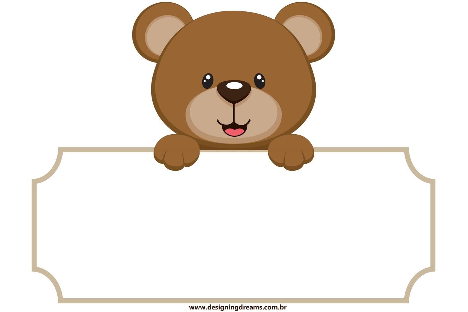 Desenho De Urso Para Imprimir