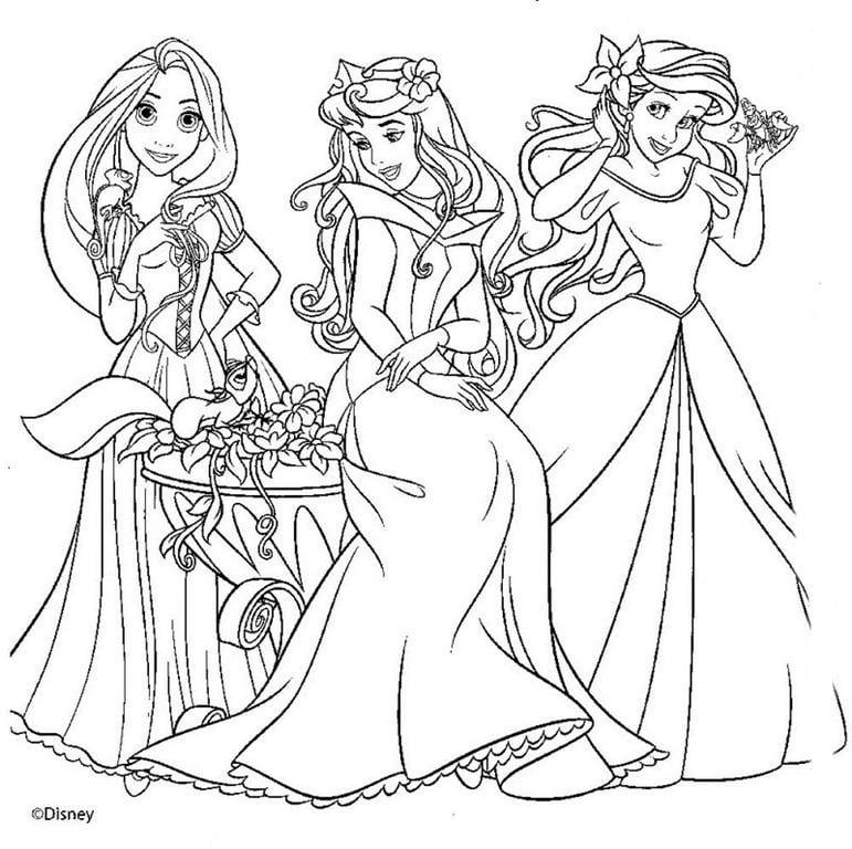 Desenho Para Colorir Princesas Disney