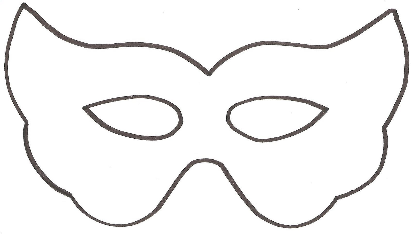 Desenho De Mascara De Carnaval Para Colorir