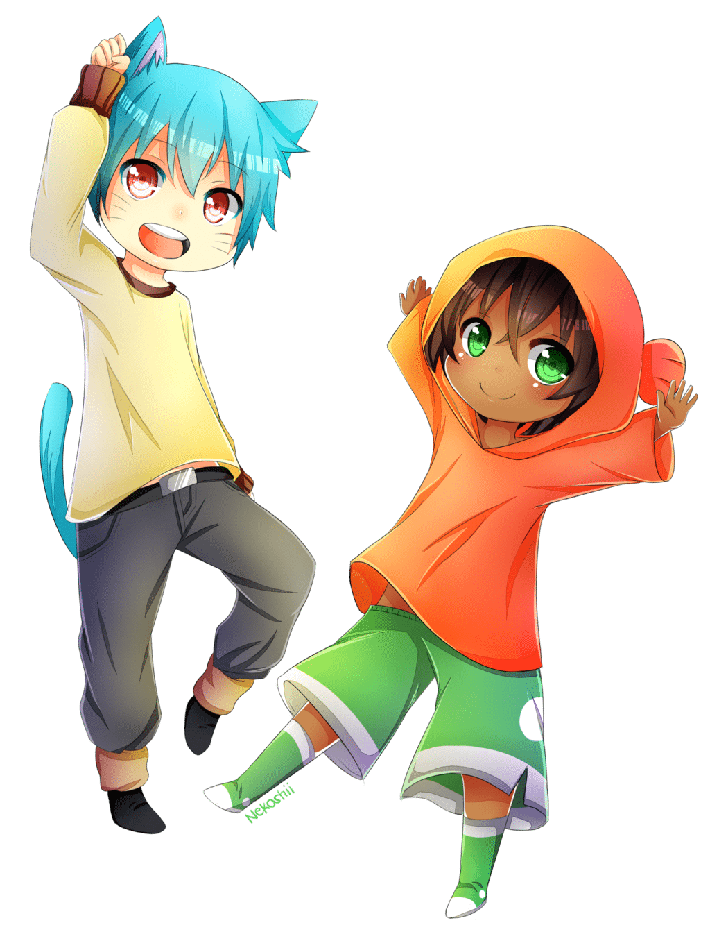 Gumball And Darwin (anime Ver) By Syoa