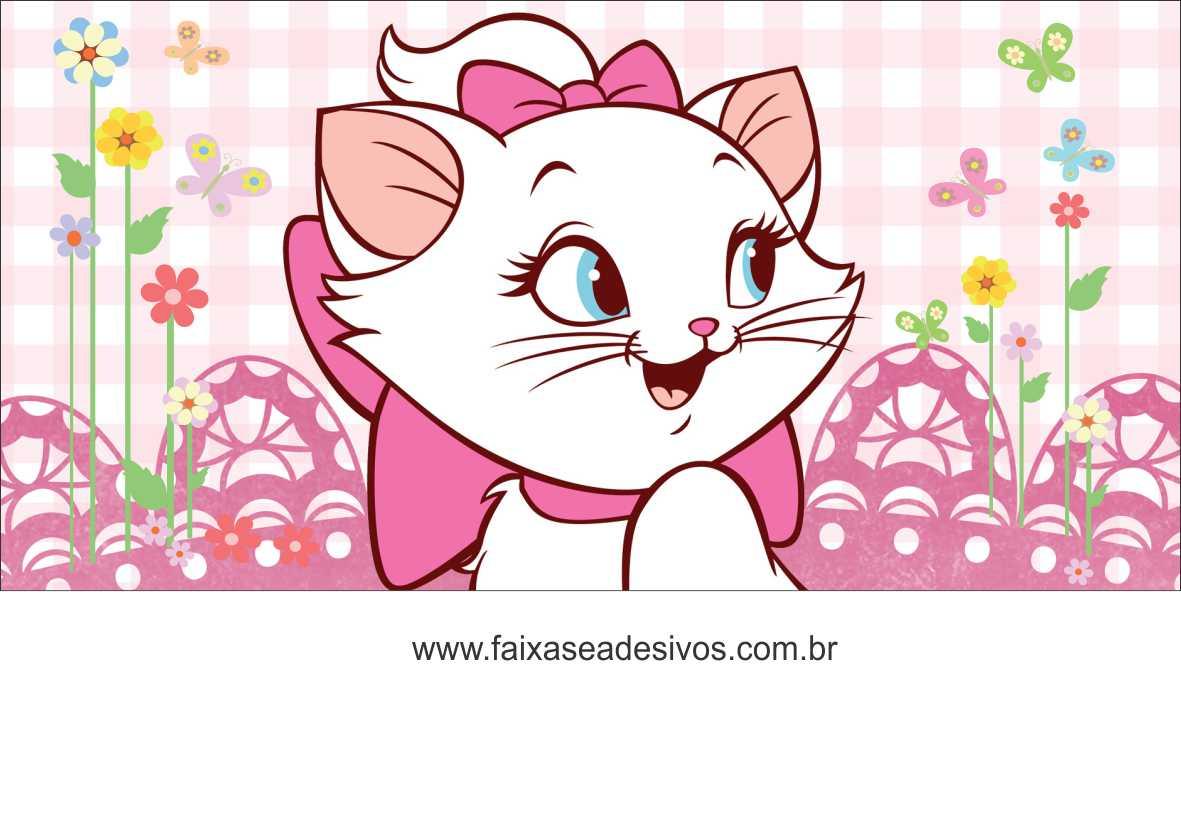 Painel De Aniversário 154 Gatinha Marie 1,00x2,00m