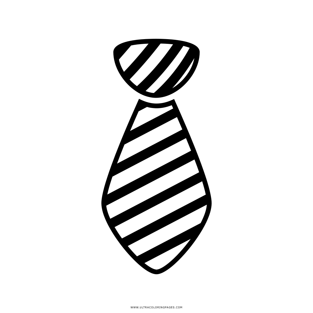 Gravata Desenho Para Colorir