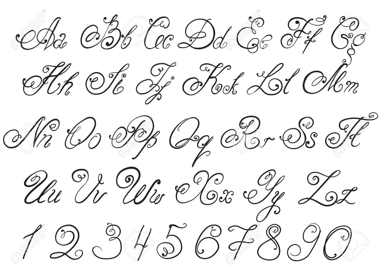 Desenho Das Letras Do Alfabeto