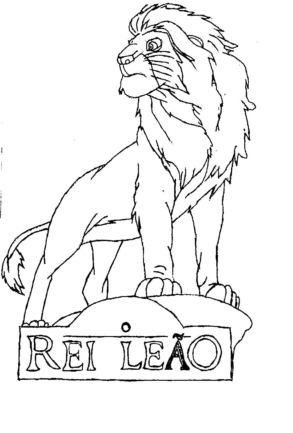 Colorir Rei Leao