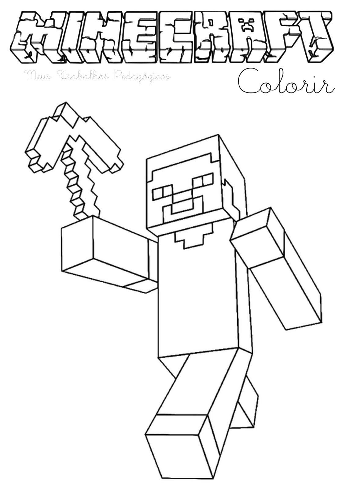Image For Meus Trabalhos Pedagógicos ®  Minecraft – Para Imprimir
