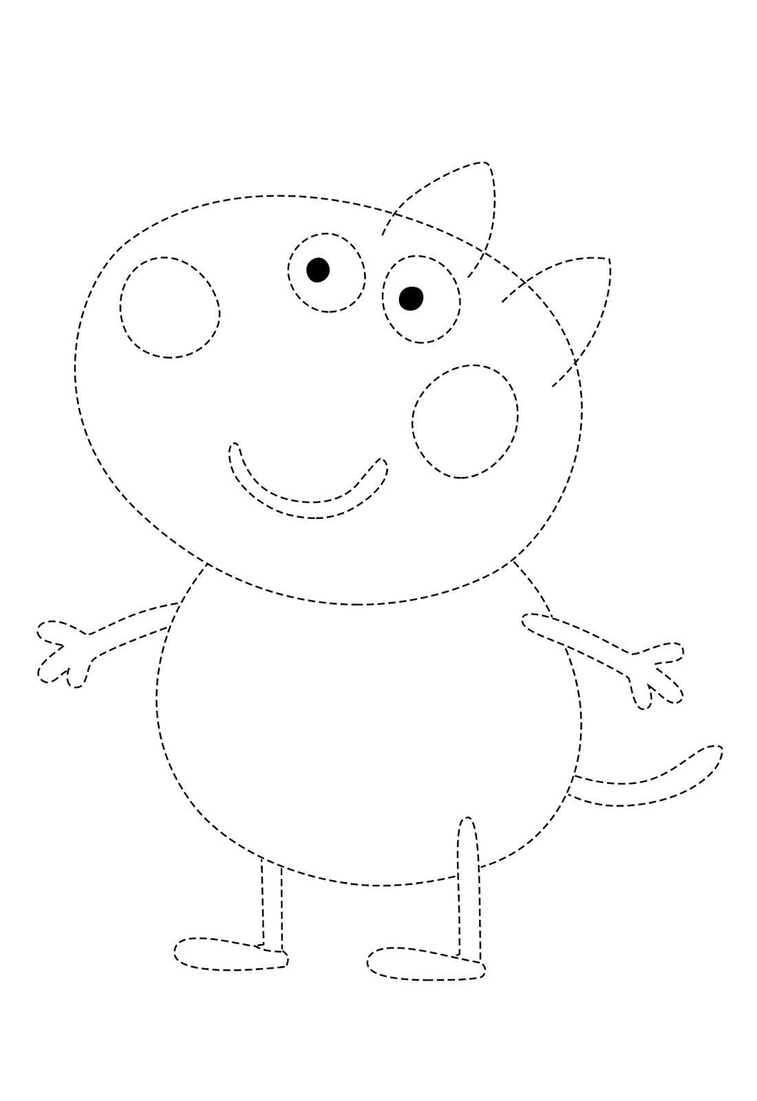 Desenho Pontilhado Para Imprimir