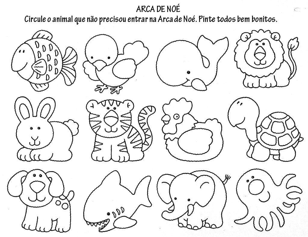 Resultado De Imagem Para Animais Da Arca De Noé Para Colorir
