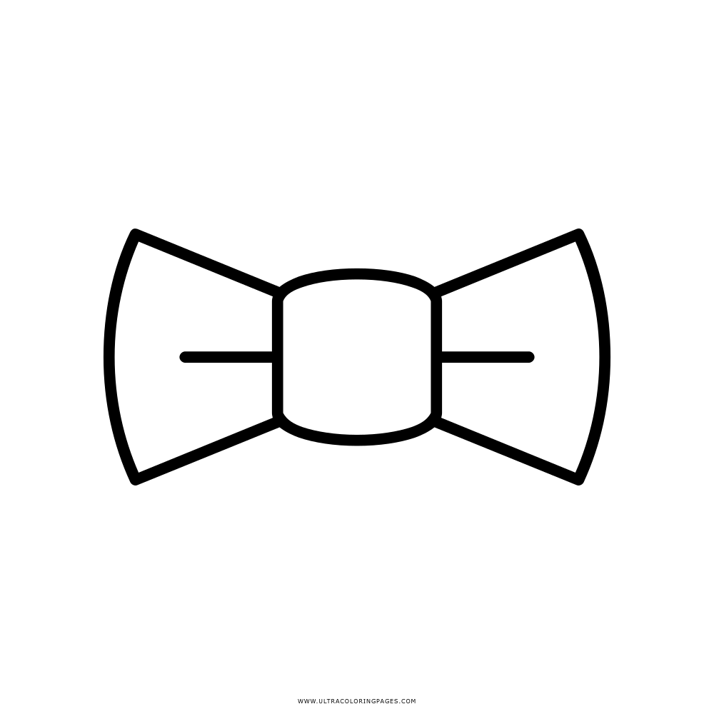 Gravata Borboleta Desenho Para Colorir