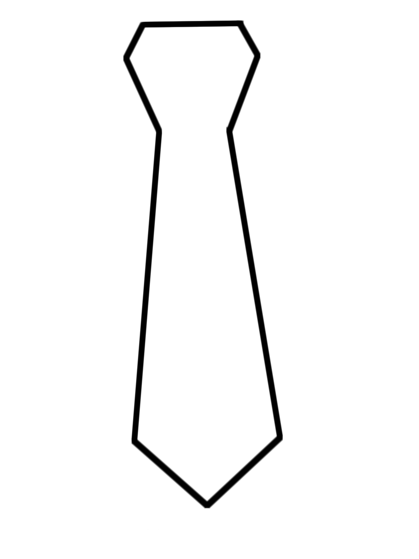 Desenho De Gravata Para Colorir