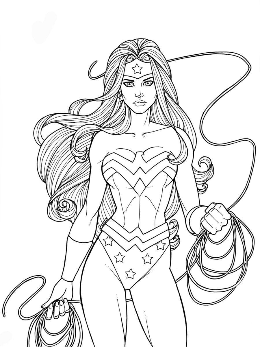 Desenhos para colorir mulher maravilha - Dessin wonder woman ...