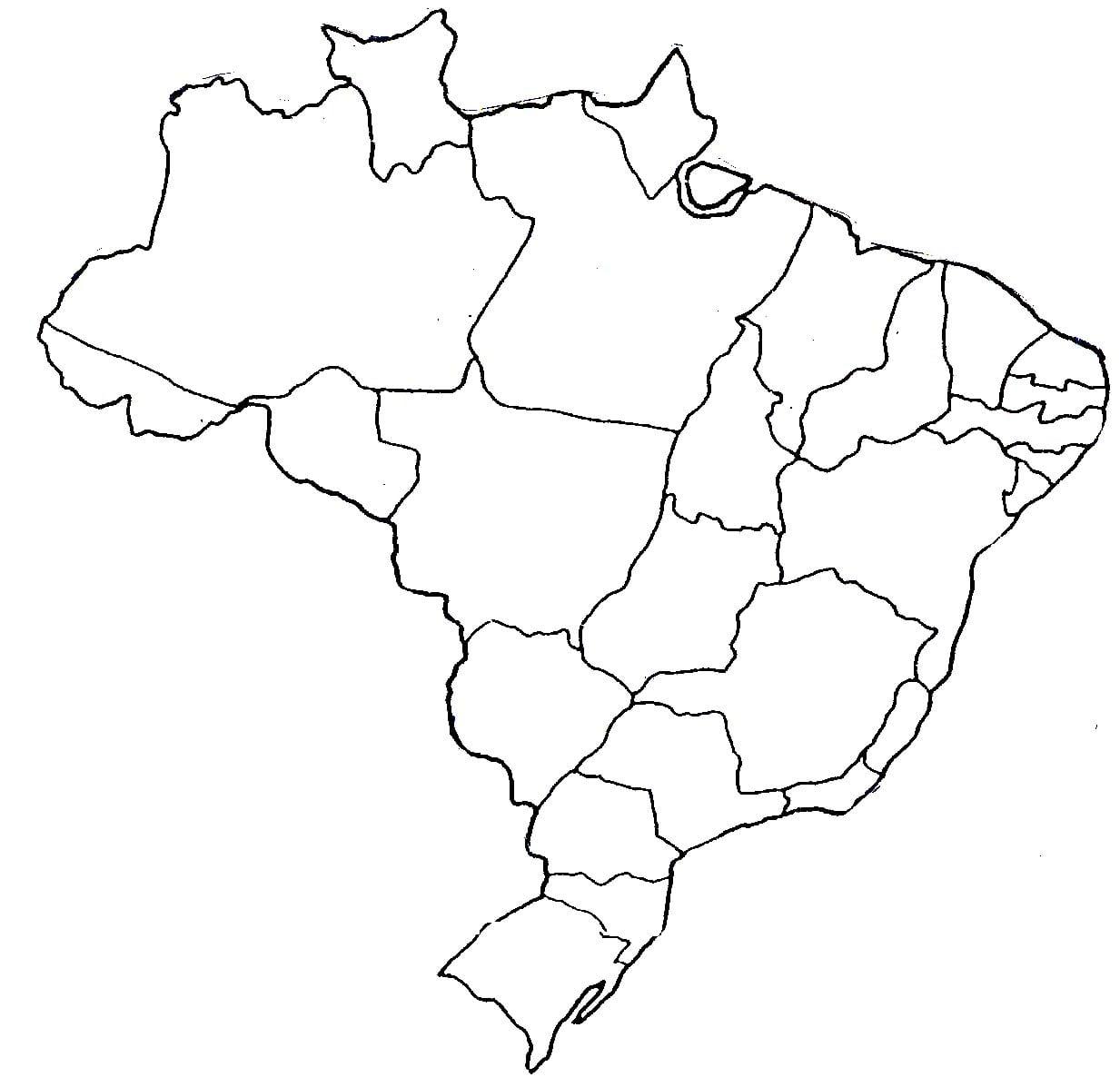 Desenho Do Mapa Do Brasil Para Pintar