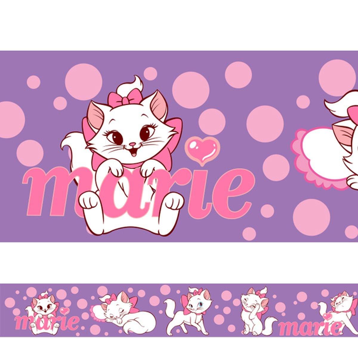 Adesivo Decorativo Faixa Para Quarto Infantil Gatinha Marie 1