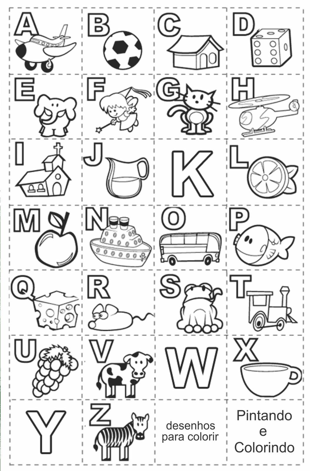 Alfabeto Para Imprimir – Pampekids Net