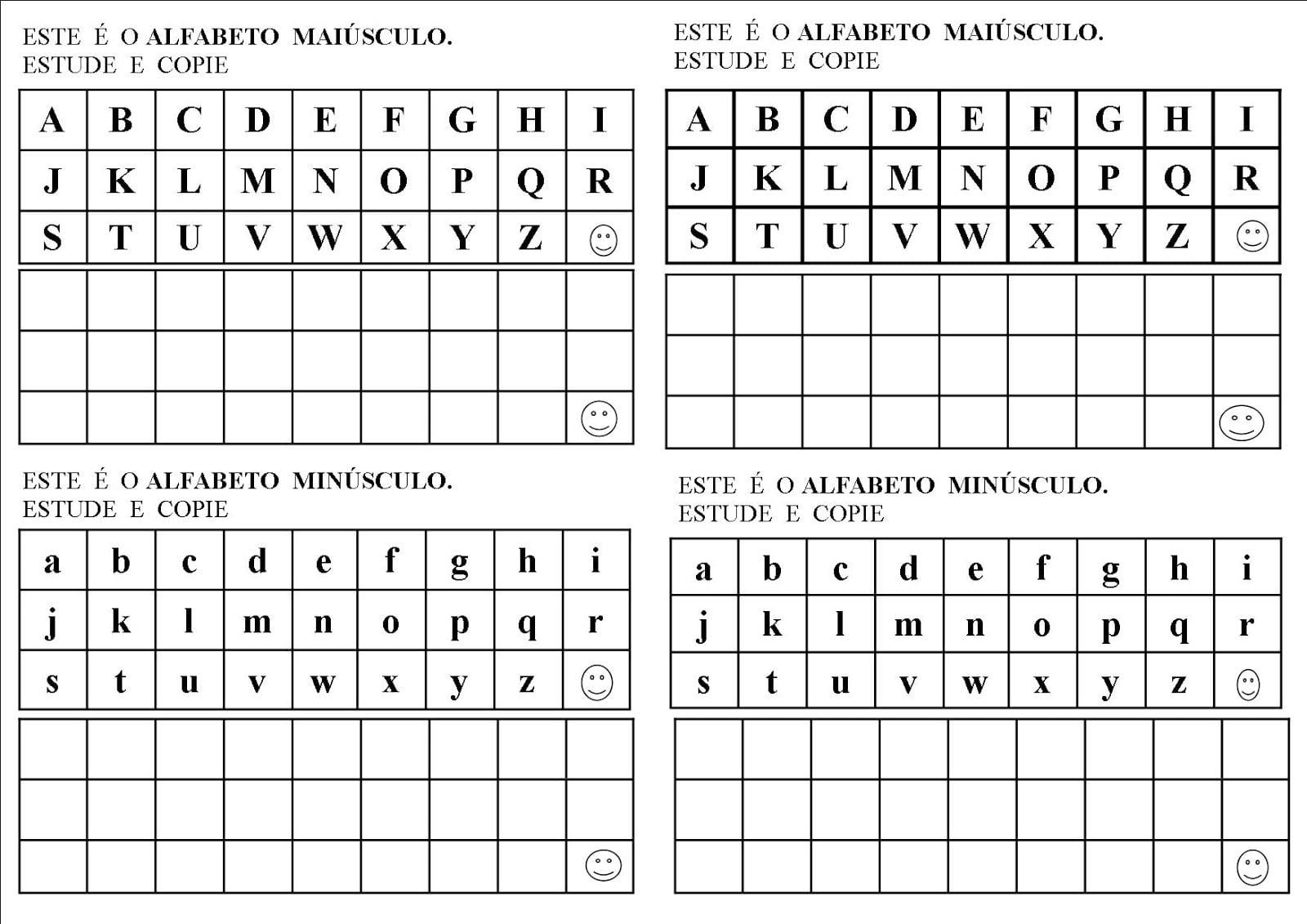 Estudando O Alfabeto Maiúsculo E Minúsculo