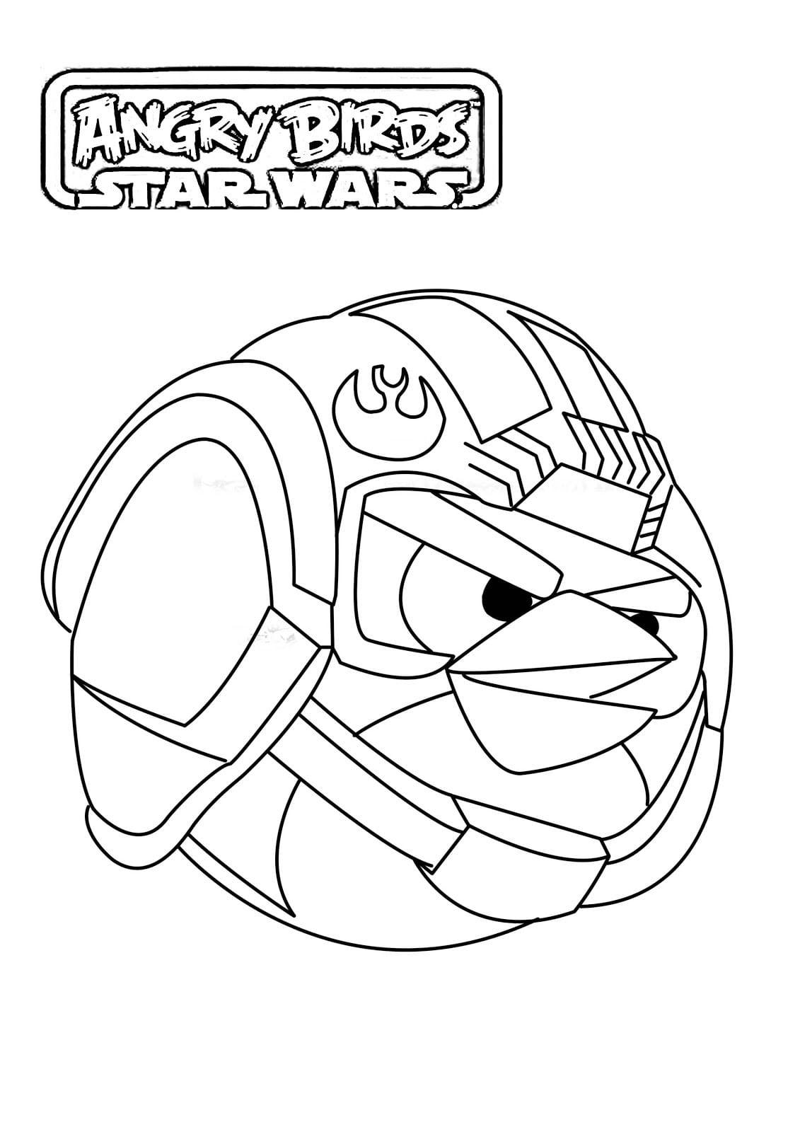Jogo Desenhos Para Colorir Angry Birds Star Wars