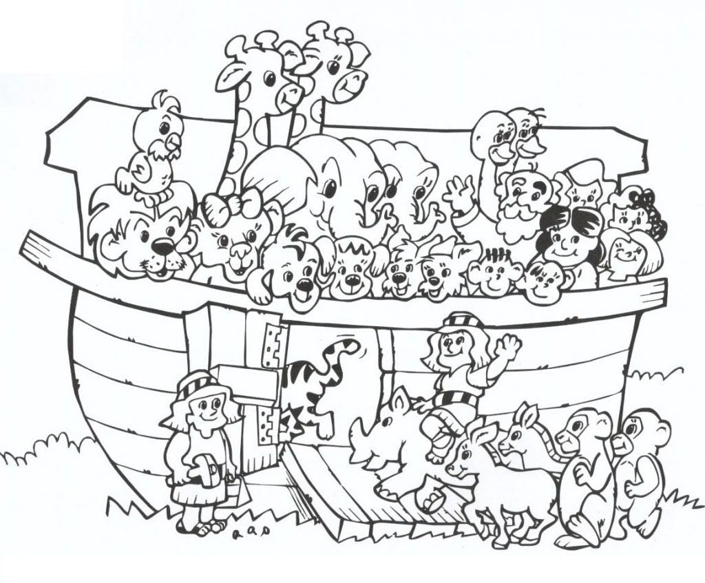 Arca De Noé – Desenhos Para Colorir