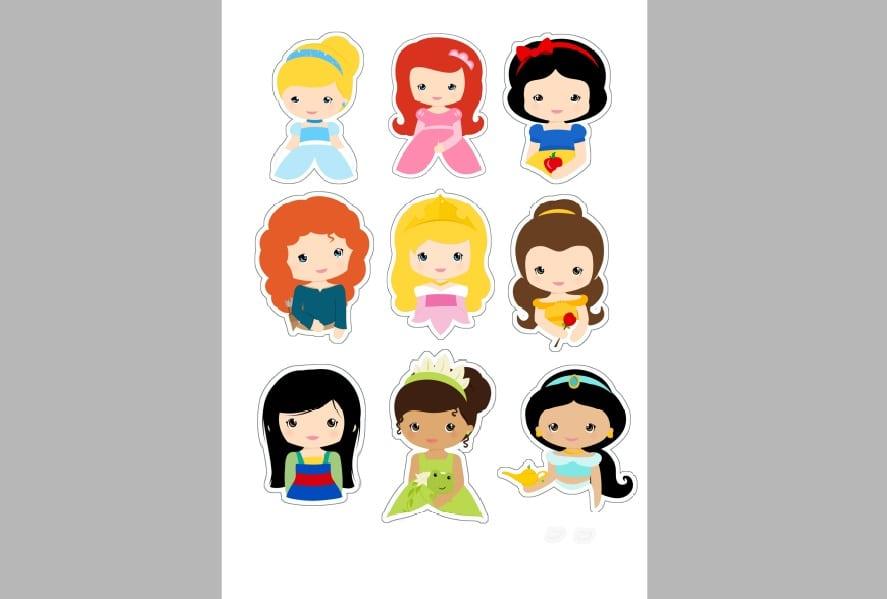 Desenhos Para Imprimir Das Princesas
