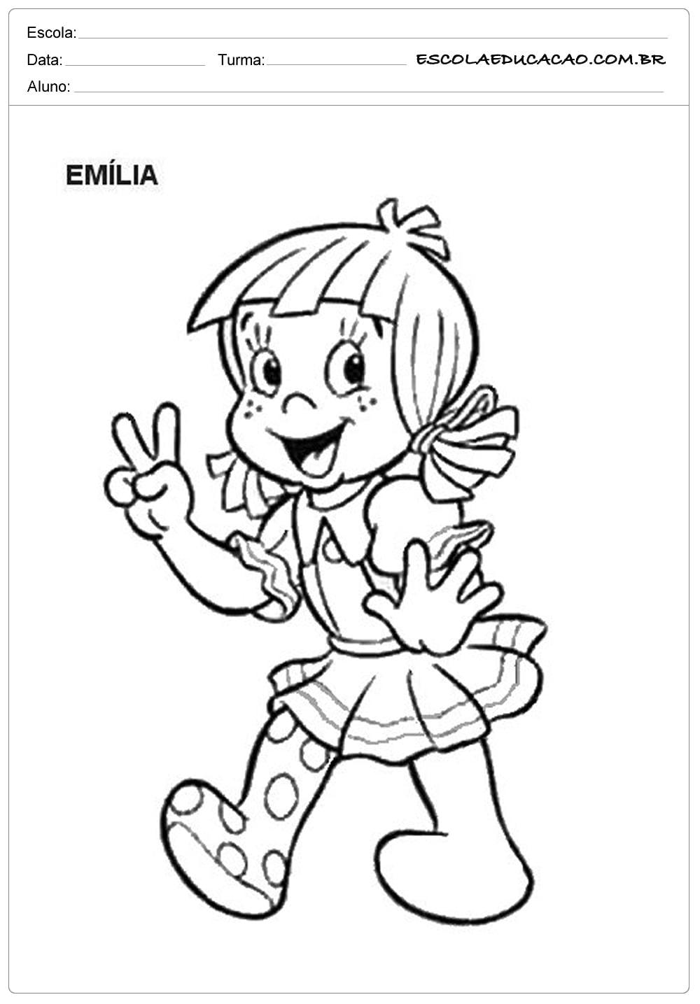 Emilia Para Colorir
