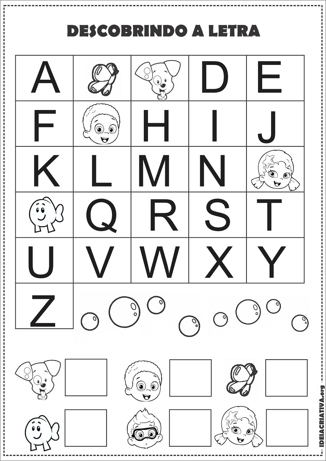 Atividades Para Educação Infantil Com Alfabeto Para Imprimir