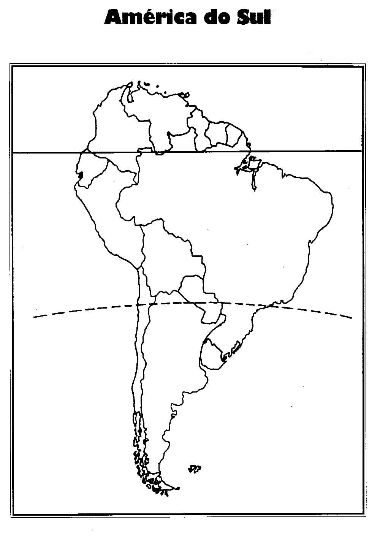 Mapa Da Am Rica Do Sul Para Colorir – Pampekids Net