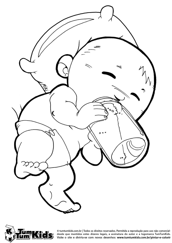 Desenhos De Bebe Para Colorir E Imprimir