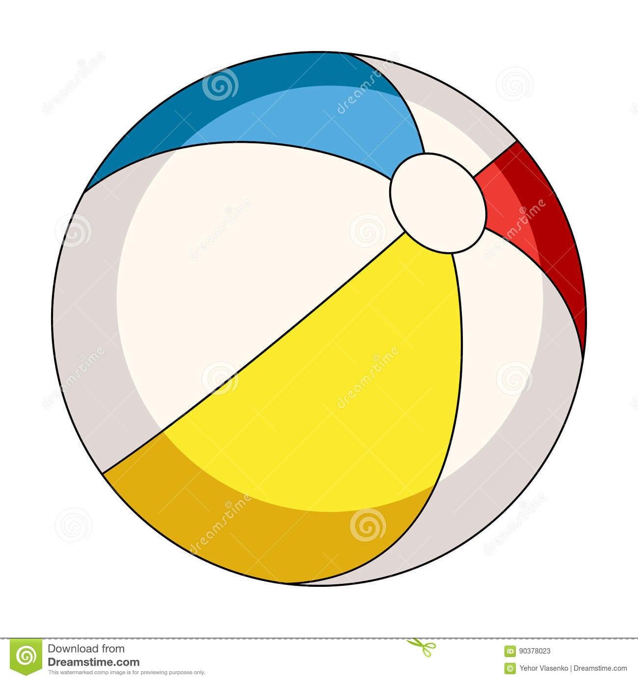 Bola Colorido De Inable O Resto Do Verão Escolhe O ícone Na