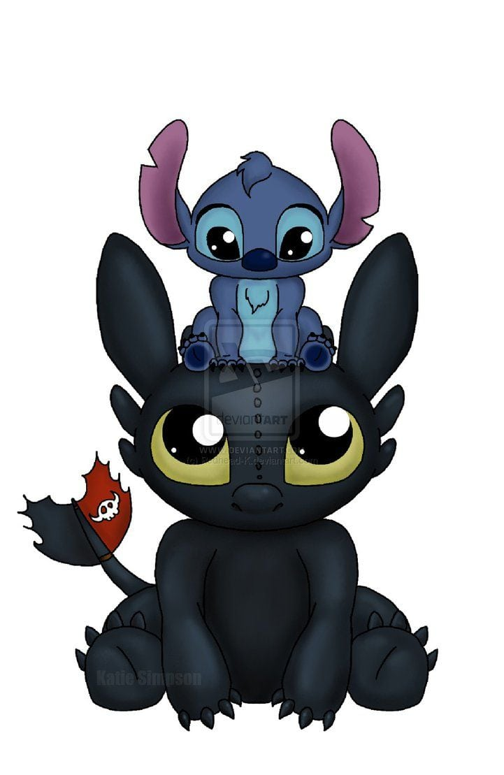 Stitch Is My Favorite But I Can Say That Toothless Isn't Right Up