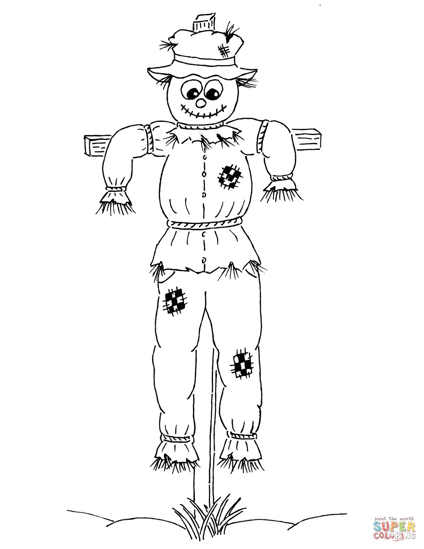 Desenho De Espantalho De Desenho Animado Para Colorir