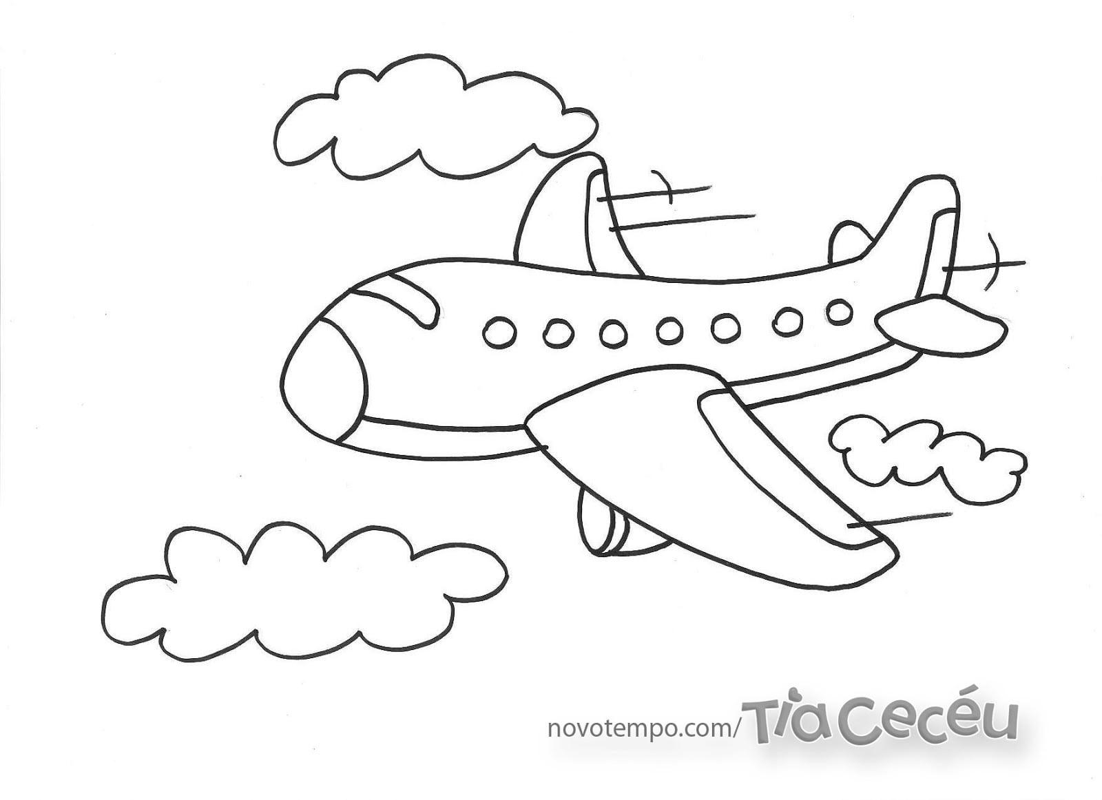 Desenhos Para Pintar  Aviões Para Colorir E Pintar Aviões